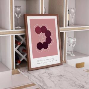 Vinplakat, citat  rød