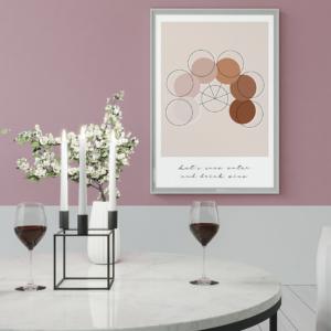 Vinplakat, citat, rosé